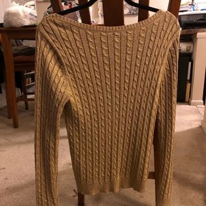 Gold Sparkly Sweater, L